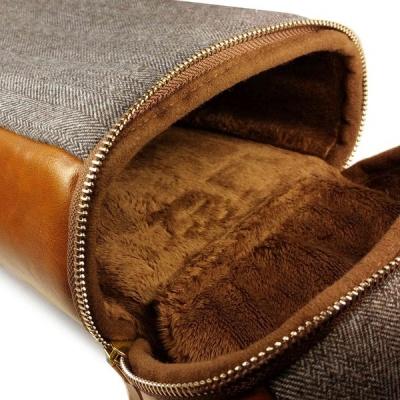 Photo of Tuff-Luv Herringbone Tweed NFC Travel Case - Brown
