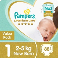 pampers premium care size 1 value pack 88 nappies nappy