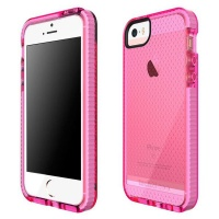 tech21 iphone 55sse evo mesh cover pink and white