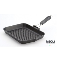 risoli saporelax grill pan 26 x 26cm grey handle