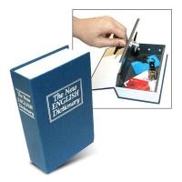 book safe medium blue safe