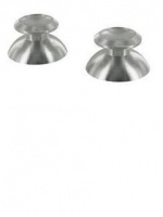 zedlabz alloy metal thumb stick replacements x2 silver ps4 3ds console