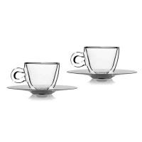 Luigi Bormioli Thermic Espresso Cup Saucer 2 Pack