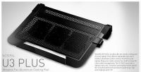 coolermaster notepal u3 plus universal notebook stand blk