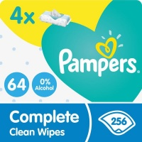 pampers complete clean baby wipes 4 x 64 256 wipe