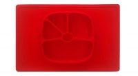 Nom Nom Beads Nom Nom Baby Silicone Placemat Plate Red