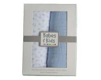 babes and kids 100 cotton muslinswaddle blanket gift set blanket