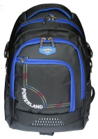 powerland unisex laptop backpack black and blue bh d160257