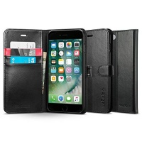 spigen iphone 7 wallet s case black