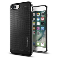 spigen iphone plus neo hybrid case satin silver