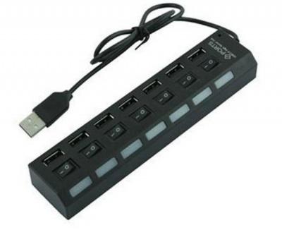 USB 20 HUB Line Machine 1 to 7 Interface USB Hub High Speed Interface 4 Port USB20 for Windows XPVista7810 MAC