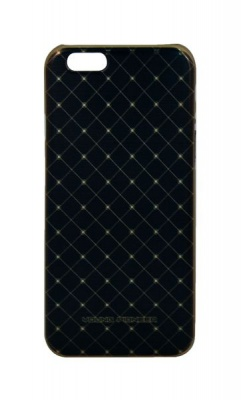 Photo of Young Pioneer Electro Plate Cover For iPhone 6 - Diamond Big - Black & Gold