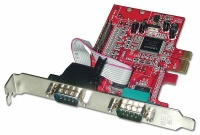 lindy 2 port serial to 1 parallel pci express
