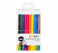bulk pack 5 x propelling pencil crayons of 10 assorted crayon
