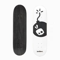 bunbunee tha bomb deck blackwhite skateboarding
