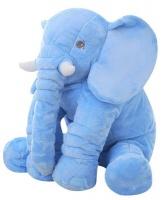 stuffed elephant plush pillow blue bedding