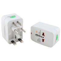 raz tech universal travel wall adapter for europe us and uk