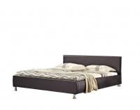 hazlo aleksandr faux leather bed base with headboard brown bed