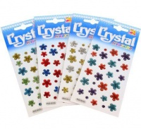 bulk pack 10 x glitter shapes crystal stickers assorted sticker
