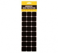 bulk pack 10 x protection pads black adhesive 3 3cm 24 art supply