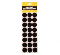 bulk pack 10 x protection pads black adhesive 3cm round 24 art supply