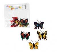 bulk pack 8 x butterflies fridge magnets 4 assorted