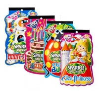 bulk pack 8 x sparkle stickers assorted book of 250 sticker