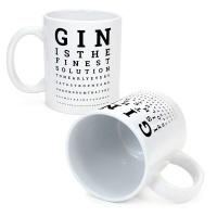 GinSanity The Gin Collective Novelty Coffee Mug The Gin Eye Test