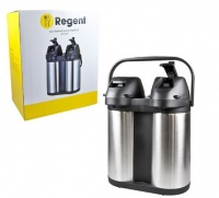 regent vacuum air pot double wall twin pump stainless 2 slow cooker