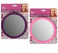 bulk pack 5 x plastic magnifying suction mirror 16cm round mirror
