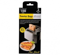 bulk pack 5 x re usable non stick toaster bags 2 10cm toaster