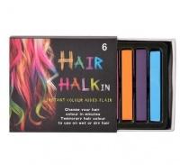 bulk pack 4 x hair halkin chalk 6 colour set chalk