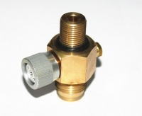 co2 on off valve switch for paintball guns in bottle pods bag