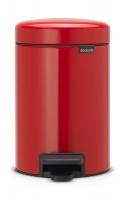 brabantia new icon pedal bin 3 litre passion red bathroom