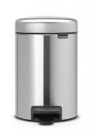 brabantia new icon pedal bin 3 litre matt steel bathroom