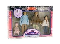 melissa and doug victorian doll family dollhouse doll