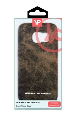 Photo of Samsung Young Pioneer PU Leather Back Cover For S7 - Brown Cellphone