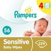 pampers sensitive baby wipes 4 x 56 224 wipe