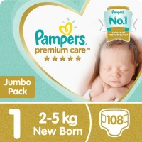 pampers premium care size 1 jumbo pack 108 nappies nappy