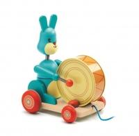djeco bunny boum pull along toy walker