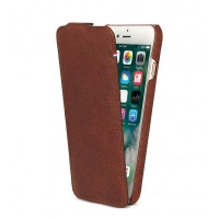 decoded leather flip case for iphone 6s6 cinnamon brown