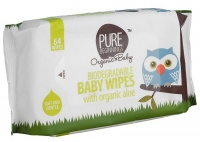pure beginnings biodegradable baby wipes with organic aloe wipe