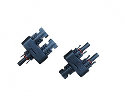 Photo of 1 to 2 MC4 Solar Branch Panel Cable Connectors