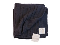cotton cable baby blanket navy 70x90cm stroller blanket