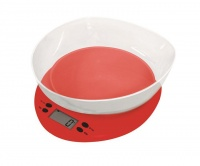 casa plastic kitchen scale with bowl fresco red food preparation