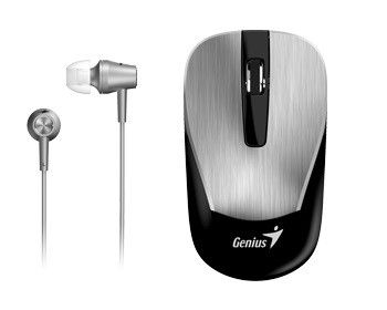 Photo of Genius Mh-8015 Mouse & Headset Bundle - Silver