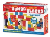 Melissa Doug Melissa Doug Deluxe Jumbo Cardboard Blocks 40 Pieces
