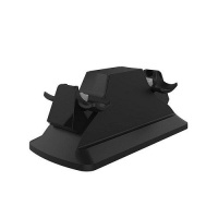 sparkfox dual controller charging station black ps4