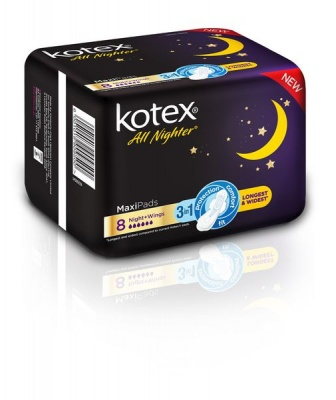Photo of Kotex All Nighter Maxi Pads - 8's