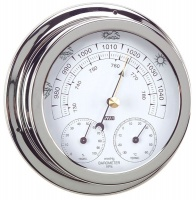 anvi 320470 3 in 1 barometer polished brass and chromed braai accessory